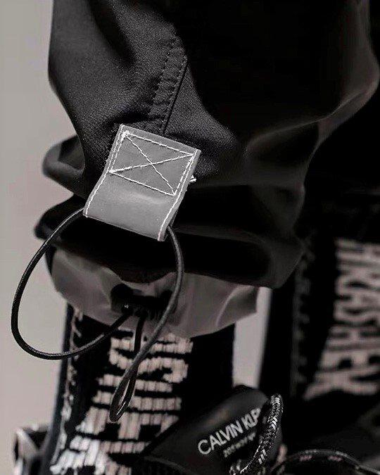 UNITEMINDグレーラインポケットカーゴパンツの画像3